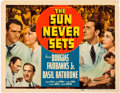 Memorabilia:Movie-Related, The Sun Never Sets Title Lobby Card (Universal, 1939)....