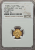 Alaska Tokens, 1909 1 DWT Alaska-Yukon-Pacific Expo. -- Cleaned -- NGC Details. Unc. Ex: Hart's Coins of the West. ...