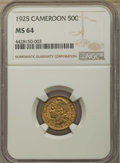 Cameroon, Cameroon: Republic 50 Centimes 1925-(a) MS64 NGC,...