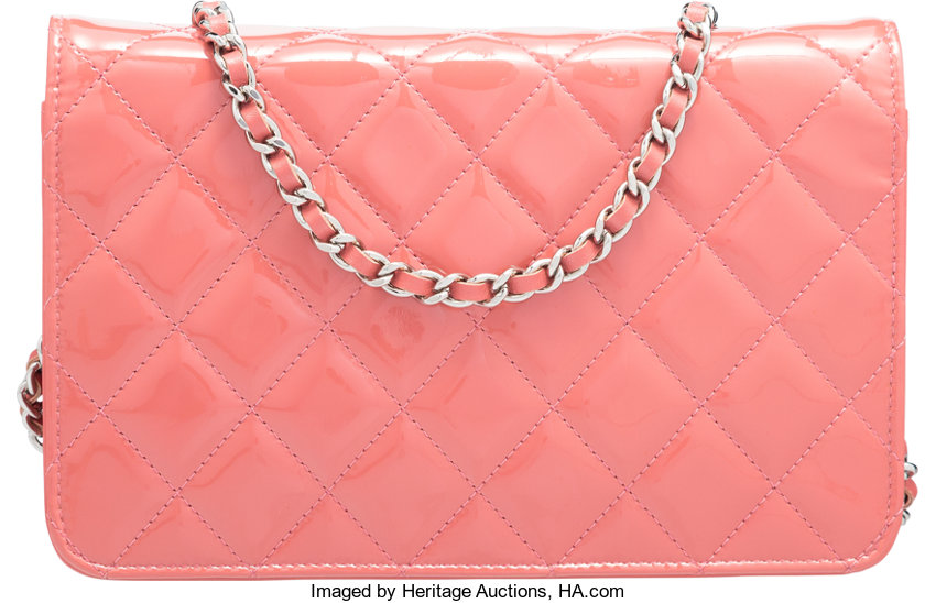 48ba4190bf5a Chanel Rose Quilted Patent Leather Brilliant Wallet on Chain | Lot #58006 |  Heritage Auctions