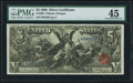 Large Size:Silver Certificates, Fr. 268 $5 1896 Silver Certificate PMG Choice Extremely Fine 45.....