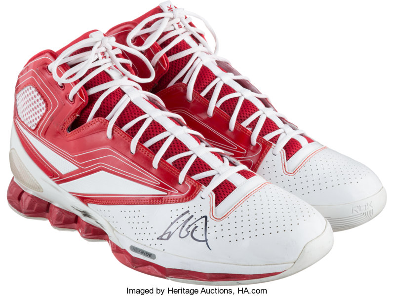 Circa 2008 Yao Ming Signed Game Worn Sneakers. It would be fair ... d5a8eba29