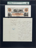 Canadian Currency, Yarmouth, NS- Exchange Bank of Yarmouth $20 Aug. 1, 1889 Ch. #810-10-02P Front Proof. . ...
