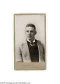 Boxing Collectibles:Memorabilia, Circa 1890's Tommy Ryan Oversized Cabinet Photograph. Tommy Ryan is regarded by most boxing historians as one of the greates...