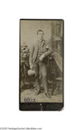"""Boxing Collectibles:Memorabilia, Circa 1890's Ike Weir Signed Cabinet Photograph. Irish Ike Weir was a Bantamweight known as """"The Belfast Spider"""" who immigra..."""