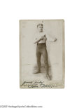 Boxing Collectibles:Memorabilia, Circa 1890's Tom West Signed Cabinet Photograph. Tommy West was a welterweight fighter who fought throughout the 1890's, fin...