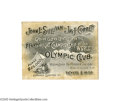 Boxing Collectibles:Memorabilia, 1892 Sullivan vs. Corbett Full Ticket. On September 7, 1892 at the Olympic Club in New Orleans, the great John L. Sullivan d...