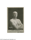 """Boxing Collectibles:Memorabilia, 1899 Robert Fitzsimmons Cabinet Photograph. """"Ruby Robert,"""" the New Zealand blacksmith, was one of the most talented fighters..."""