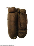 "Boxing Collectibles:Memorabilia, 1900 Charles ""Kid"" McCoy Fight Worn Gloves From The Joe Choynski Bout. Charles ""Kid"" McCoy (Norman Selby) was one of the mos..."