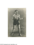 """Boxing Collectibles:Autographs, Circa 1920's Benny Leonard Signed Photograph. Sportswriter Al Luriecalled Leonard, during his time as Champ, """"the most famo..."""