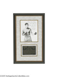 Boxing Collectibles:Autographs, Circa 1930's Abe Attell Signed Photograph. Abe Attell, Featherweight Champion of the World from 1901-1912, was inducted int...