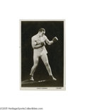 """Boxing Collectibles:Autographs, Circa 1930's Primo Carnera Signed Real Photo Postcard. """"Forbreakfast, Primo has a quart of orange juice, two quarts of mil..."""