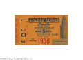 Boxing Collectibles:Memorabilia, 1958 Cassius Clay Gold Gloves Finals Ticket Stub. The former owner of this historic stub was on hand to witness history, as...