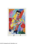 Boxing Collectibles:Autographs, Muhammad Ali & Leroy Neiman Signed Lithograph with OriginalSketches from Each. The two greatest talents in their respecti...