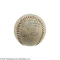Autographs:Baseballs, 1929 Babe Ruth Signed Baseball. Dating from a Yankees visit to Comiskey Park, this OAL (Barnard) sphere offers the signatur...