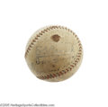 Autographs:Baseballs, 1930 Philadelphia Athletics Team Signed Baseball with Kid Gleason.The World Championship squad is ably represented on this...