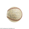 Autographs:Baseballs, 1935 Pittsburgh Pirates Team Signed Baseball with Honus Wagner. TheHall of Fame appeal doesn't end with the Old Dutchman on...
