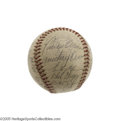 Autographs:Baseballs, 1943 Brooklyn Dodgers Team Signed Baseball. Despite the ranks ofMajor League Baseball having been thinned dramatically by ...