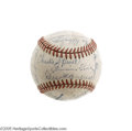 Autographs:Baseballs, 1945 Philadelphia Phillies Team Signed Baseball with Foxx. Likefellow legendary sluggers Ruth before him and Aaron afterwa...