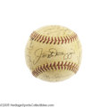 Autographs:Baseballs, 1951 New York Yankees Team Signed Baseball. The departing legendJoe DiMaggio appropriately commands the sweet spot of this...