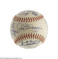 Autographs:Baseballs, The Finest 1951 New York Yankees Team Signed Baseball Known, PSA Mint 9. In post-war New York Yankees autograph collecting,...