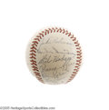 Autographs:Baseballs, 1951 National League All-Star Team Signed Baseball. The Nationalsmade the outfield seats a dangerous place for fans attend...