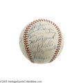 Autographs:Baseballs, 1953 New York Yankees Team Signed Baseball. A fifth consecutive World Championship for the Bronx Bombers, setting a mark th...