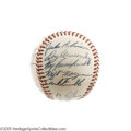 Autographs:Baseballs, 1954 Brooklyn Dodgers Team Signed Baseball. Your eyes (and ourphotographs) are not deceiving you--this ONL (Giles) ball re...