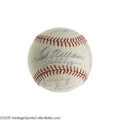 Autographs:Baseballs, 1955 Boston Red Sox Team Signed Baseball. Straight from the dugout at Fenway comes this clean white non-official ball adorn...