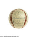 Autographs:Baseballs, 1955 New York Yankees Team Signed Baseball. An exceptionalspecimen, losing not an ounce of signature clarity and quality f...