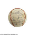 Autographs:Baseballs, 1956 Indianapolis Indians Team Signed Baseball with Maris. Fiveyears before he would shock the world with a successful ass...