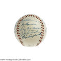 Autographs:Baseballs, 1956 National League All-Star Team Signed Baseball. This fabulous high-grade specimen has survived the half-century since i...