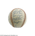 Autographs:Baseballs, 1957 Milwaukee Braves Team Signed Baseball. The World Champions!Even the great Yankees couldn't hold off the Hall of Fame...