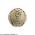 Autographs:Baseballs, 1957 New York Yankees Team Signed Baseball. The American League Champs won ninety-eight games en route to the pennant this ...