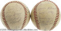 Autographs:Baseballs, 1966 Pittsburgh Pirates Team Signed Baseballs Lot of 2. Matchedpair from still boasts much of the talent that brought the ...