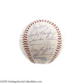 Autographs:Baseballs, 1965 Los Angeles Dodgers Team Signed Baseball. Sandy Koufax's greatest season. After earning a Cy Young Award for his regu...