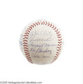 Autographs:Baseballs, 1971 New York Yankees Team Signed Baseball. A perfect ThurmanMunson signature in his earlier and more attractive style is ...