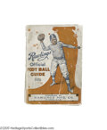 """Football Collectibles:Others, 1921 Harold """"Red"""" Grange Personally Owned Rawlings Football Guide. The man whose name is synonymous with Golden Age footbal..."""