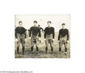 "Football Collectibles:Photos, 1922 ""Four Horsemen"" of Notre Dame Wire Photograph. ""Outlined against a blue, gray October sky the Four Horsemen rode again..."