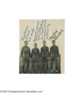 """Football Collectibles:Others, """"The Four Horsemen"""" of Notre Dame Signed Photograph Mount. It was famed sportswriter Grantland Rice who dubbed the Notre Da..."""