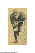 Football Collectibles:Others, 1960's Ernie Nevers Handwritten Note on Image. The legendary Golden Age Hall of Fame fullback offers a kind and generous gr...
