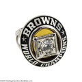 Football Collectibles:Others, 1964 Cleveland Browns N.F.L. Championship Ring. The unstoppable force that was Hall of Fame running back Jim Brown carried ...