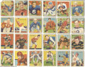 Football Cards:Sets, 1935 National Chicle Complete Set. The mid-1930's was a golden agefor trading card design, with Goudeys, Diamond Stars and ...