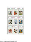 Football Cards:Lots, 1950 Bowman Football PSA Mint 9 Lot of 9. Without exception, this exceptionally high-grade collection ranks at the pinnacle... (9 Cards)