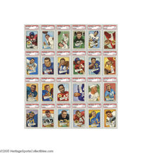 1952 Bowman Large Football High-Grade Complete Set (144). An absolutely exceptional set that would immediately crack the...
