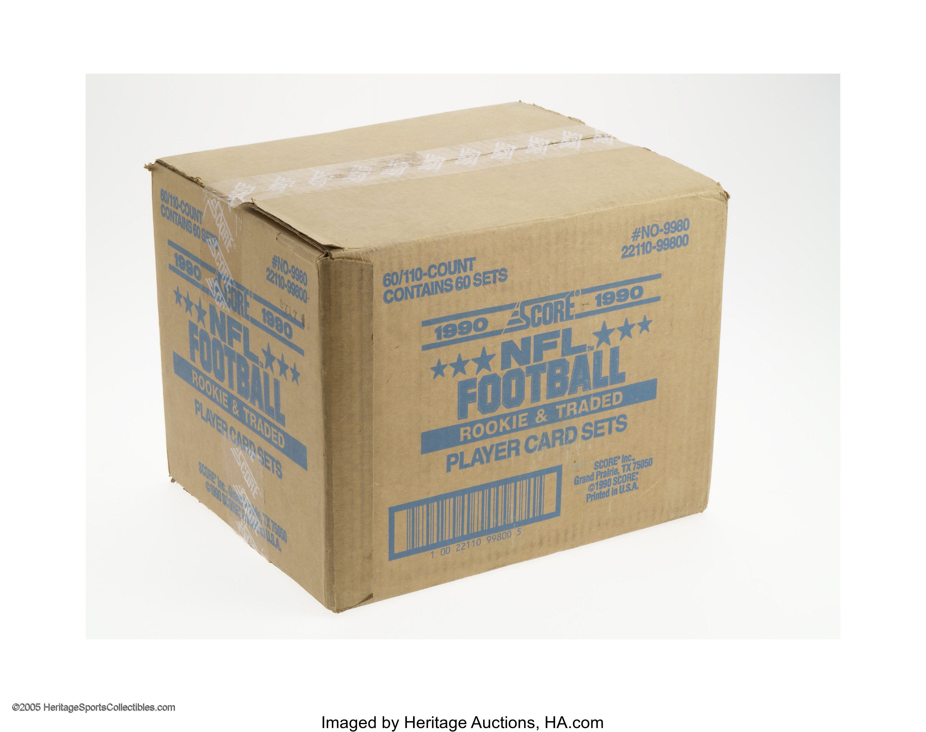 1990 Score Football Supplemental Case Of Sixty Sets With