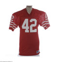 Football Collectibles:Uniforms, Mid-1980's Ronnie Lott Game Worn Jersey. Lott's career at USC and with the vaunted 49'ers teams of the 1980's was nothing s...
