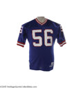 Football Collectibles:Uniforms, 1990 Lawrence Taylor Game Worn Jersey. Certainly one of the finest L.T. jerseys on earth, this historic blue mesh gamer saw...