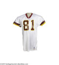 """Football Collectibles:Uniforms, 1993 Art Monk Game Worn Jersey. The last of fourteen seasons in Washington for this star wide receiver, whose number """"81"""" a..."""
