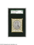Baseball Cards:Singles (Pre-1930), 1909 T204 T.T.T. Cigarettes Jesse Burkett Oval Frame SGC EX/NM 80.An absolutely exceptional specimen, worthy of glowing pr...